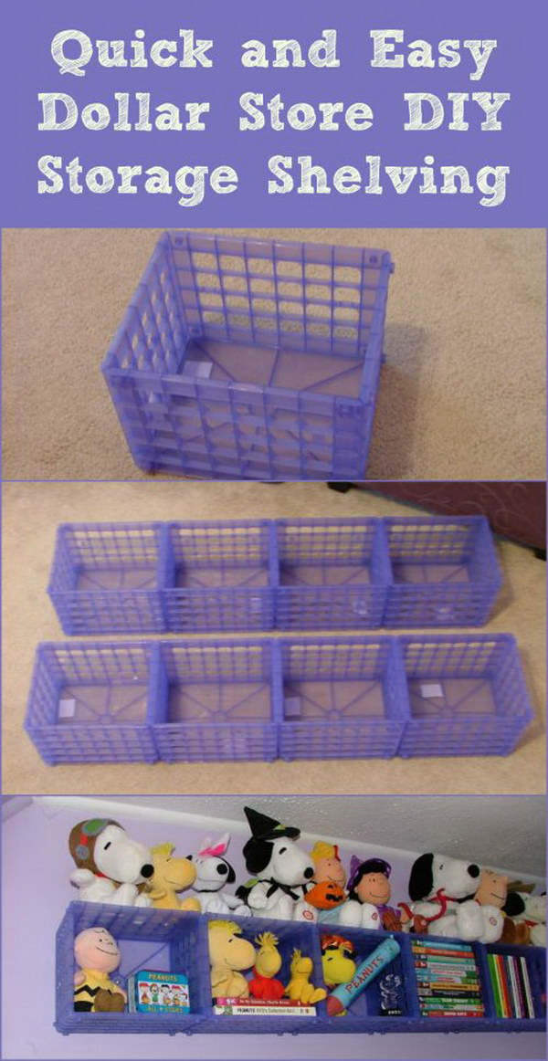 Plastic Crate Shelf.
