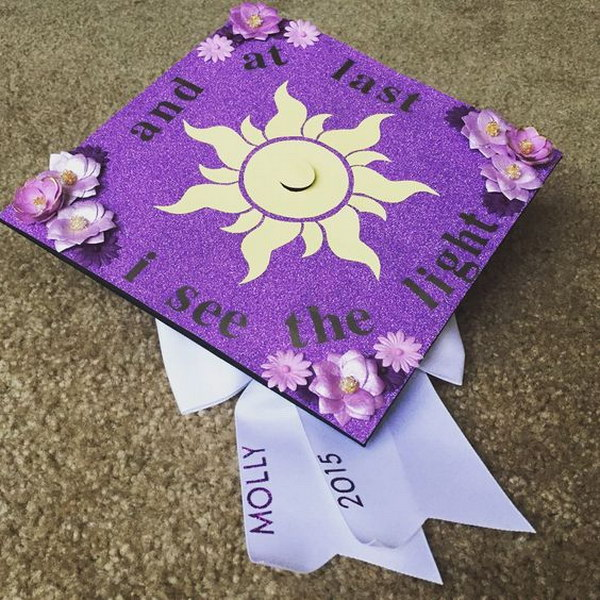 Disney Tangled College Graduation Cap