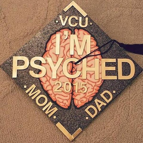 Cool Psychology Graduation Cap Decorating