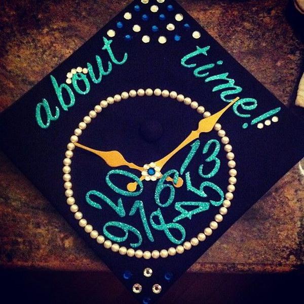 Clock Graduation Cap