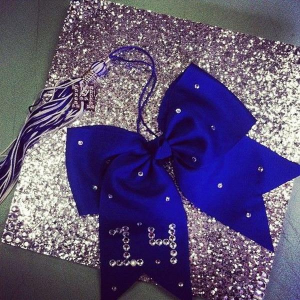 Purple Shimmery Graduation Cap Using Scrap Book Paper