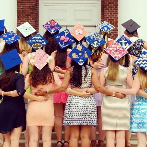 Cute Decorated Graduation Caps.