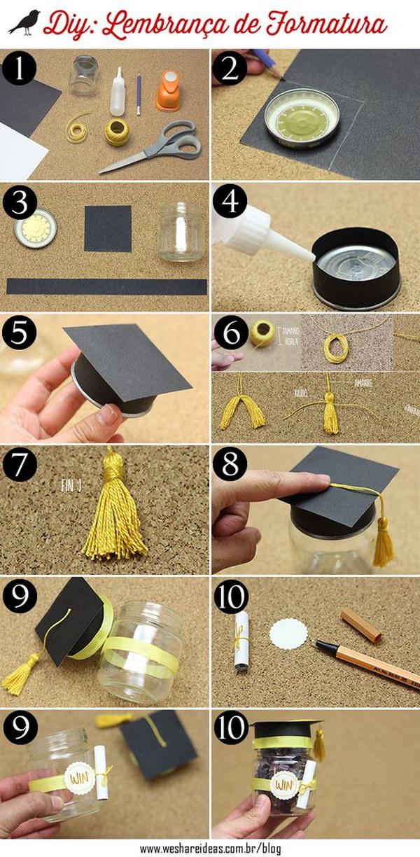 Graduation Hat Party Favor Boxes.