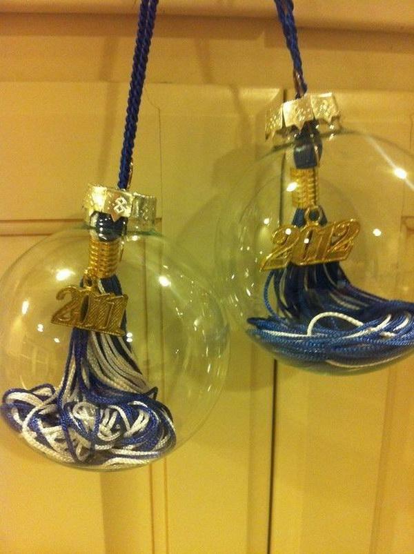Graduation Tassel Ornament Idea.