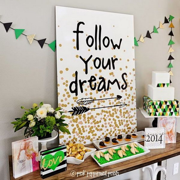 The 'Follow Your Dreams' Sign Board.