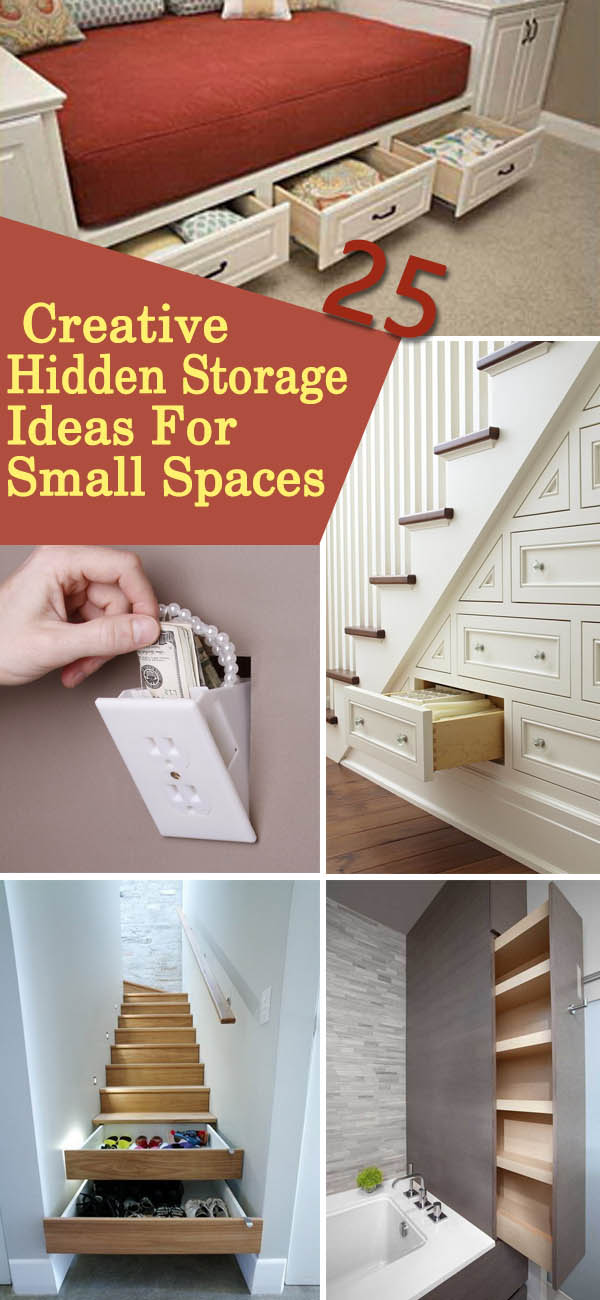 Creative Hidden Storage Ideas For Small Spaces.