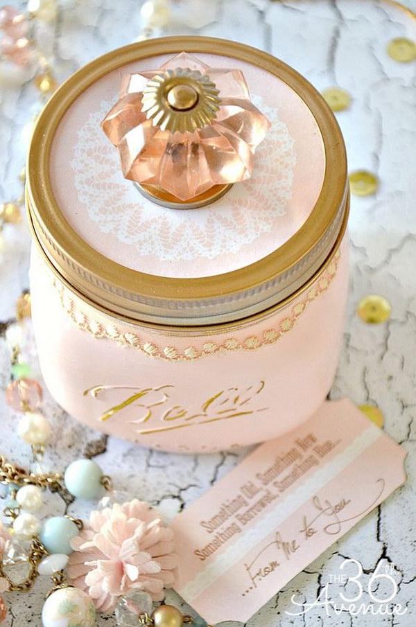 DIY Shabby Chic Mason Jar