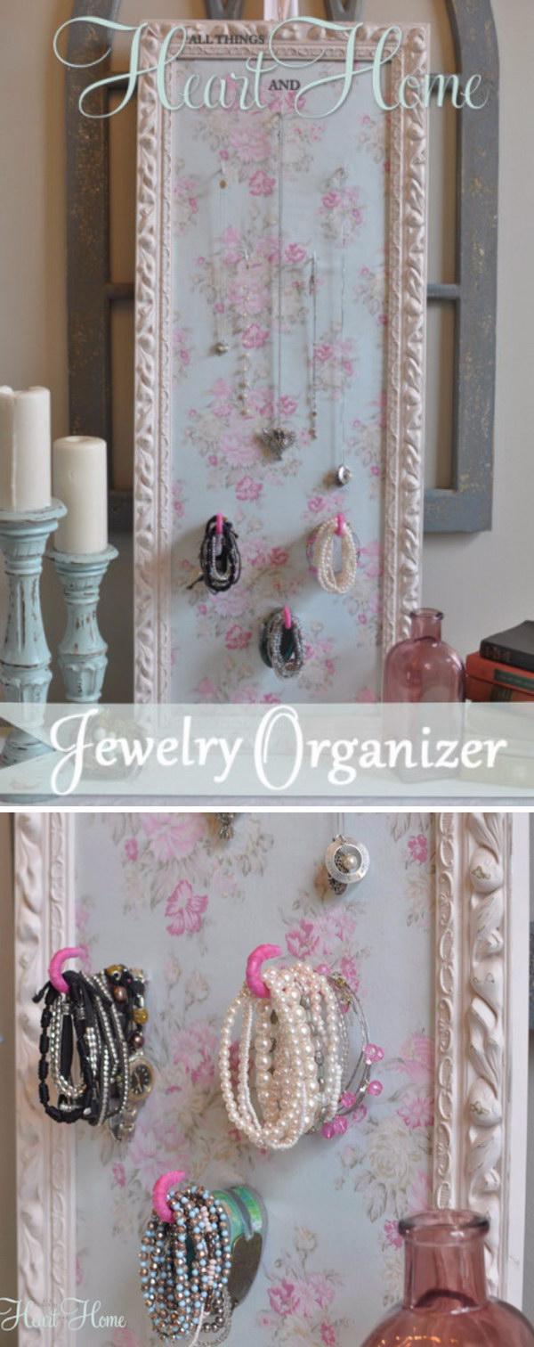 DIY Shabby Chic Jewelry Holder