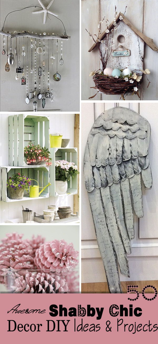 Awesome Shabby Chic Decor DIY Ideas & Projects.