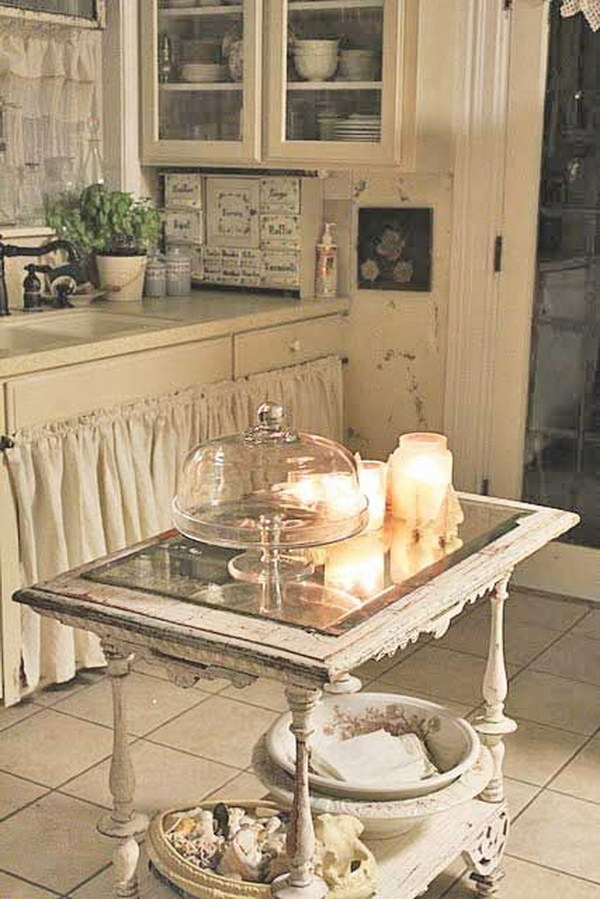 Shabby Chic Kitchen With Warm Romantic Look
