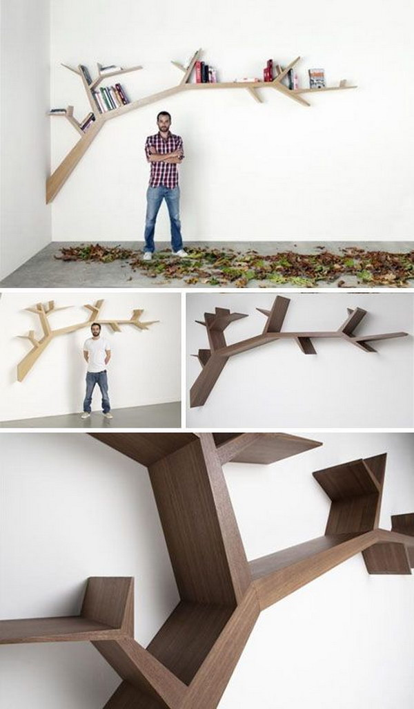 Bold Branches Book Shelving.
