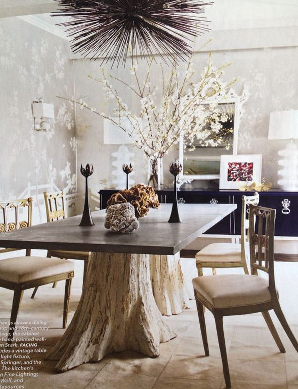 Tree Trunk Inspirational Dinning Table.