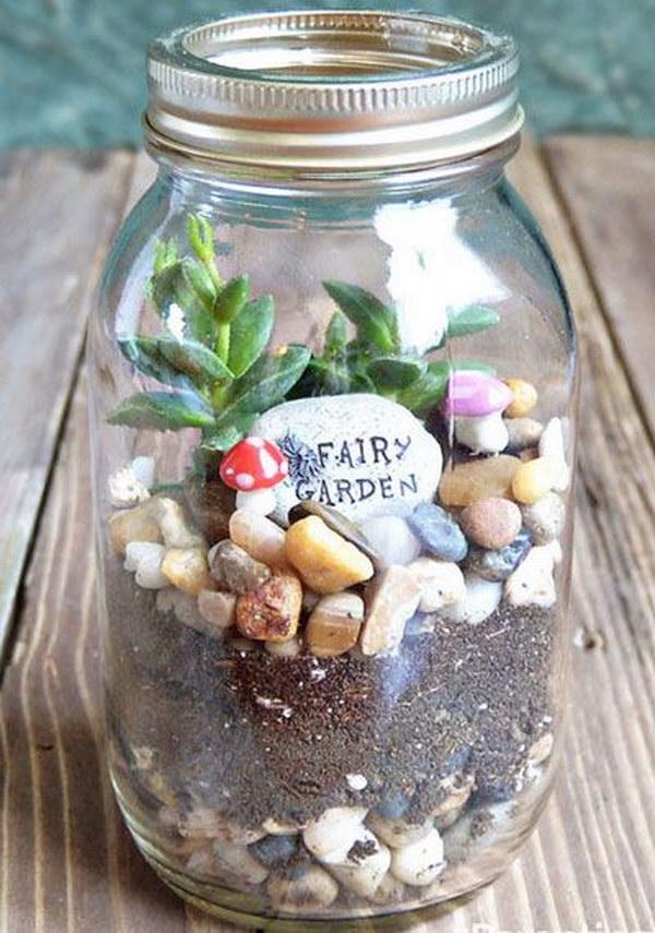 DIY Fairy Garden in a Jar
