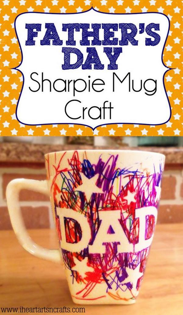 Kid Made Father's Day Sharpie Mug