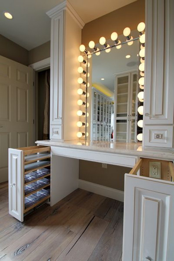 Hollywood Style Dressing Room Vanity