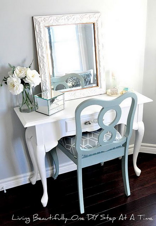 Fresh Look Vanity With DIY Makeup Table And Chair