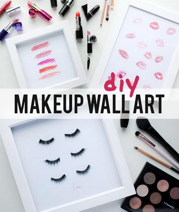 DIY Eyelash And Lip Prints Wall Art