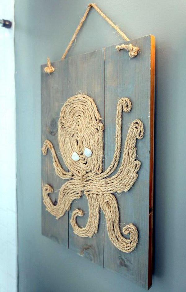 DIY Rope Octopus.