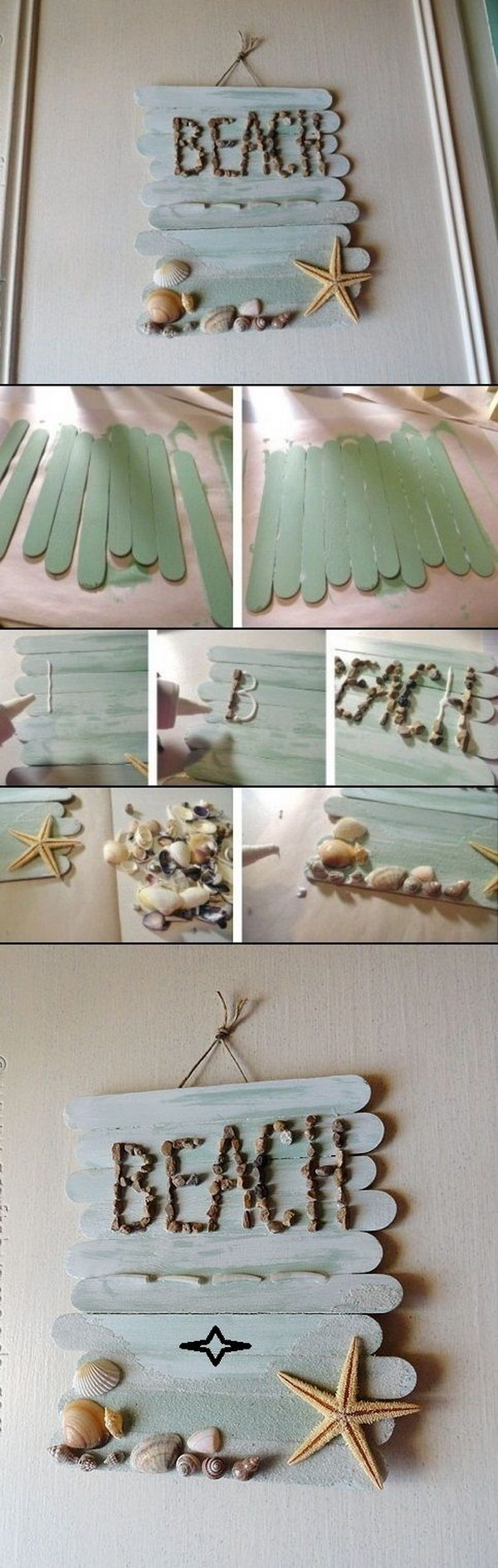 DIY Craft Stick Wall Art