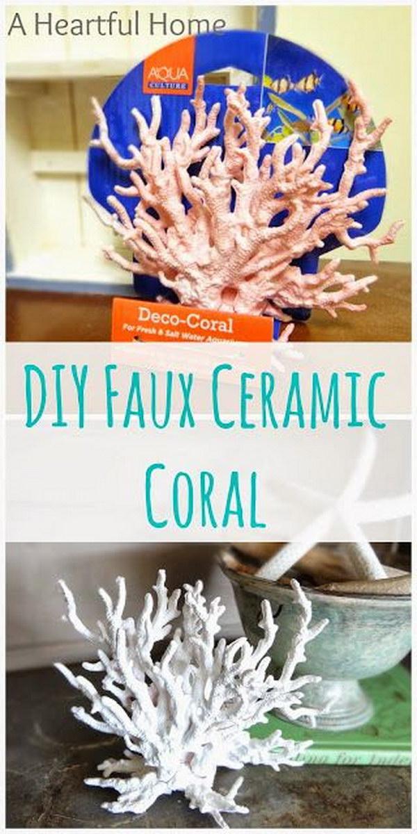 DIY Faux Ceramic Coral