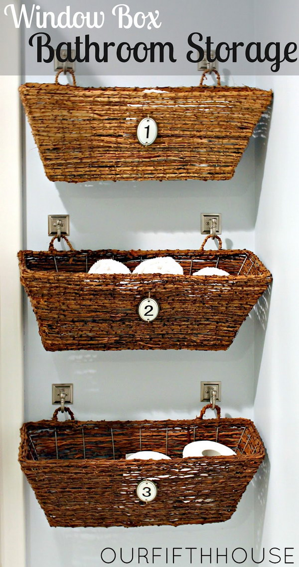 Hanging Wicker Window Boxes