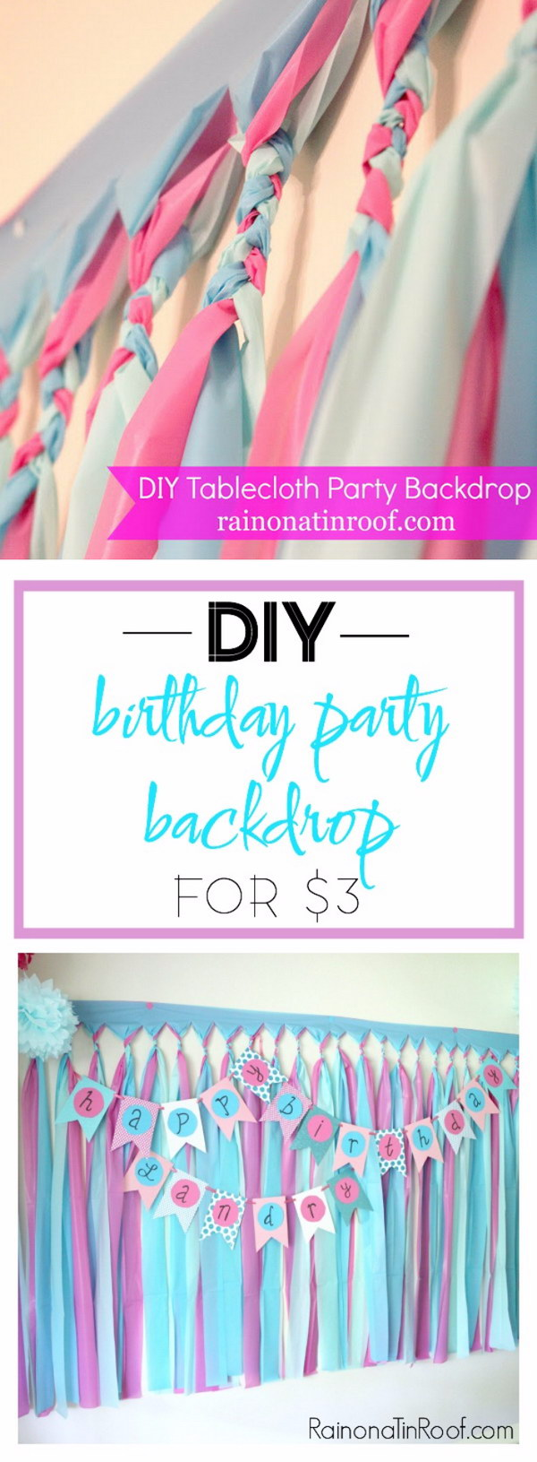 DIY Cheap & Easy  Party Backdrop Tutorial