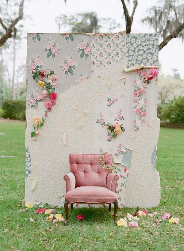 Shabby Chic Wall Paper Backdrop