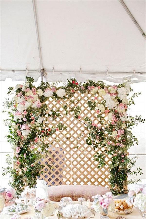 Floral Lattice Backdrop