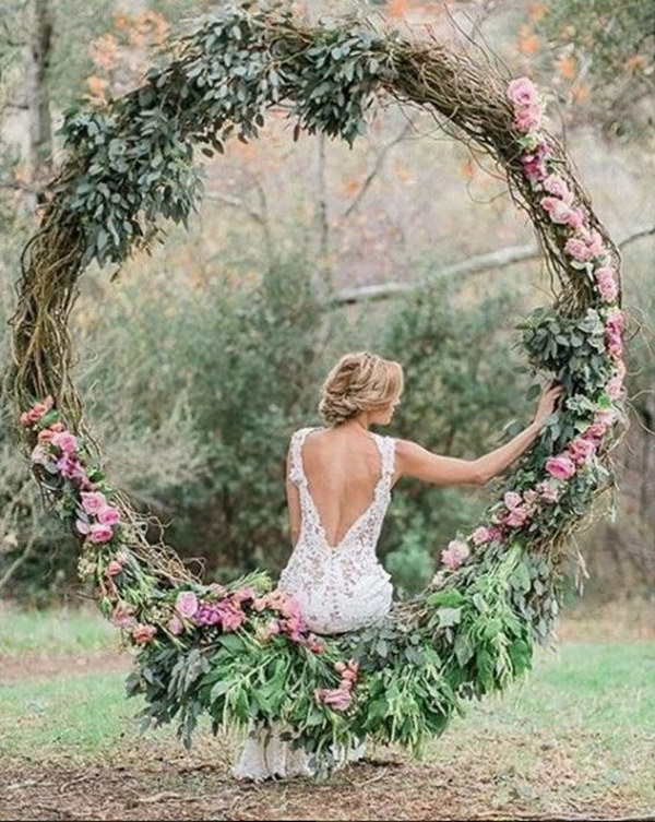 Circular Floral Swing Photo Booth