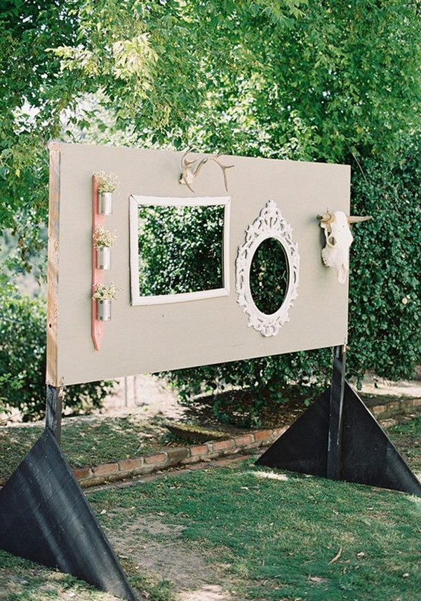 Rustic Outdoor Photo Booth Backdrop