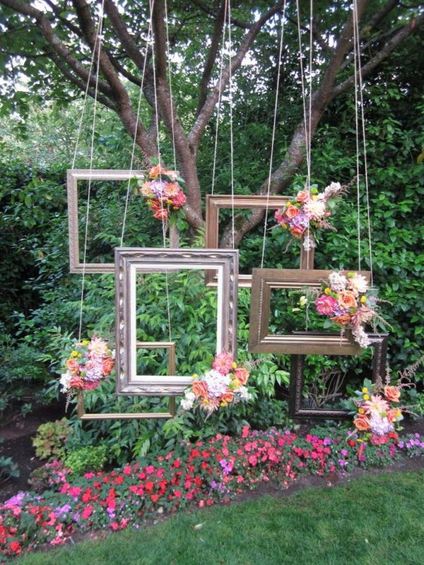 Recycled Frames Photo Booth Backdrop