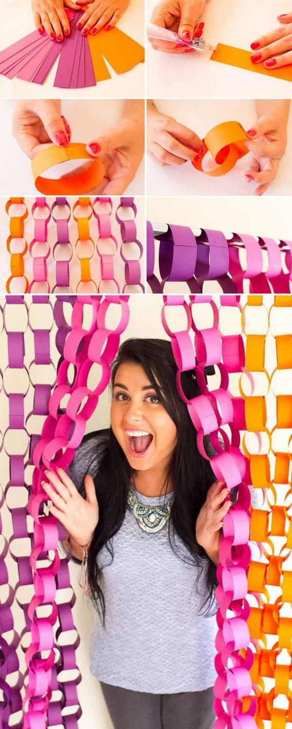 DIY Paper Chain Photobooth Backdrop