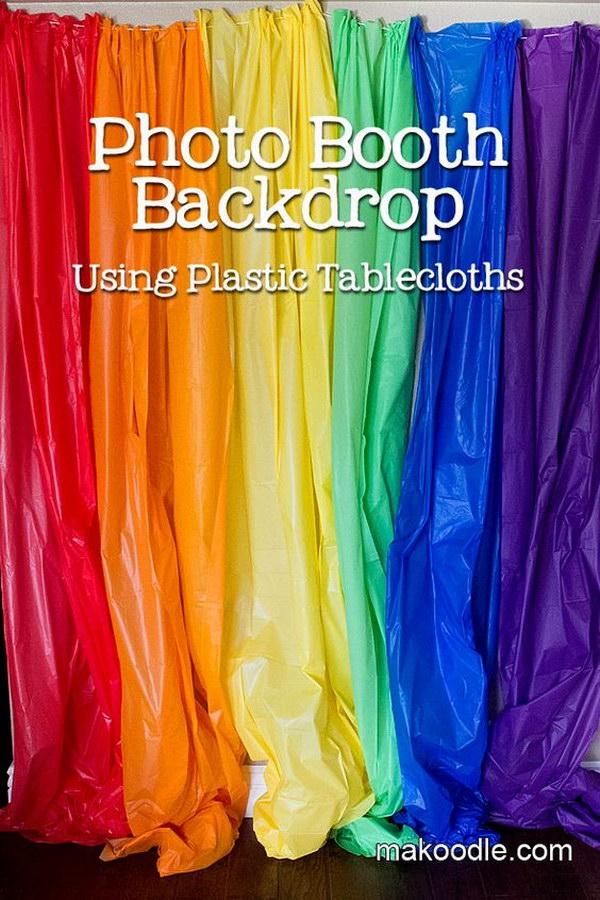 DIY Rainbow Photo Booth Tutorial