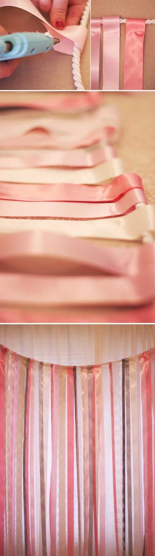DIY Ribbon and Lace Backdrop