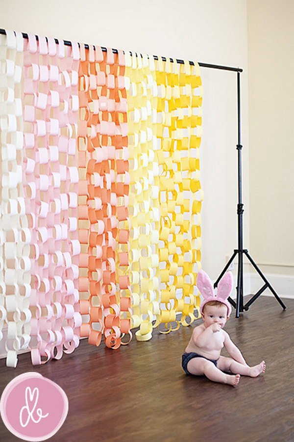 DIY Paper Chain Backdrop.
