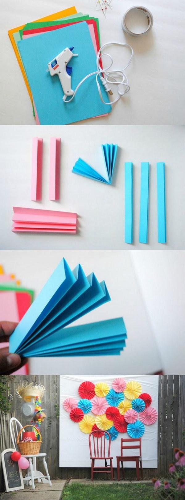 DIY Paper Fan Photo Booth Backdrop