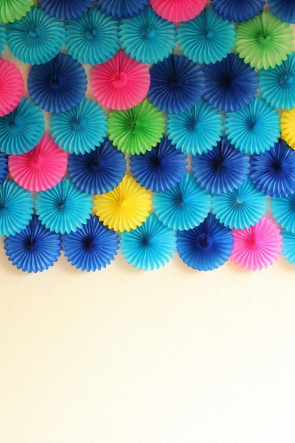 Paper Fan Party Photo Booth Backdrop