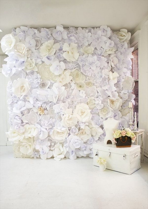 DIY Paper Flower Photo Booth Backdrop Tutorial