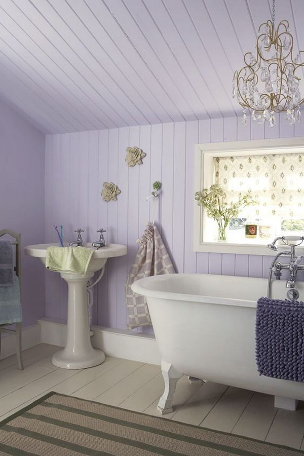Romantic Lavender Shabby Chic Bathroom