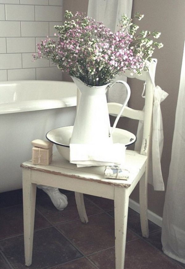 Chair Next To Tub To Hold Pretty Things