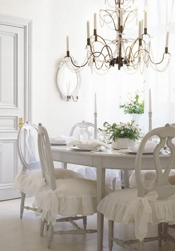 Delicate And Dainty Shabby Chic Table And Chairs.