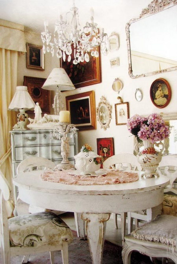 These Shabby Chic Decors Add A Wonderful Fragrance To Your Dining Room.