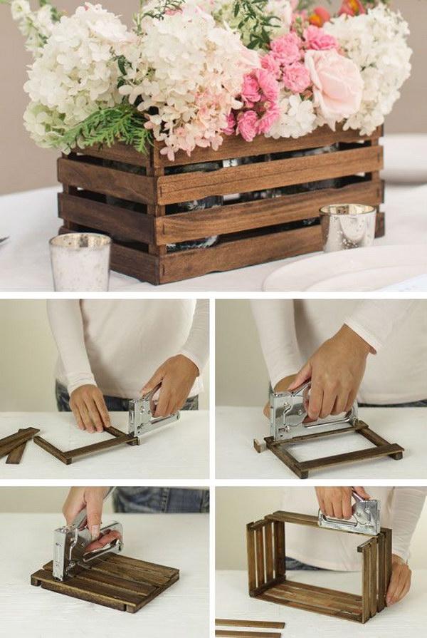 DIY Rustic Stick Basket.