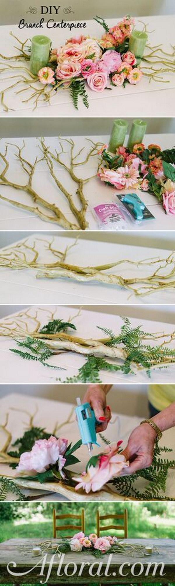 DIY Branch Centerpiece