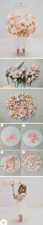 DIY Floral Parasol.