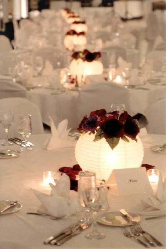 Gorgeous DIY Paper Lantern Centerpiece.