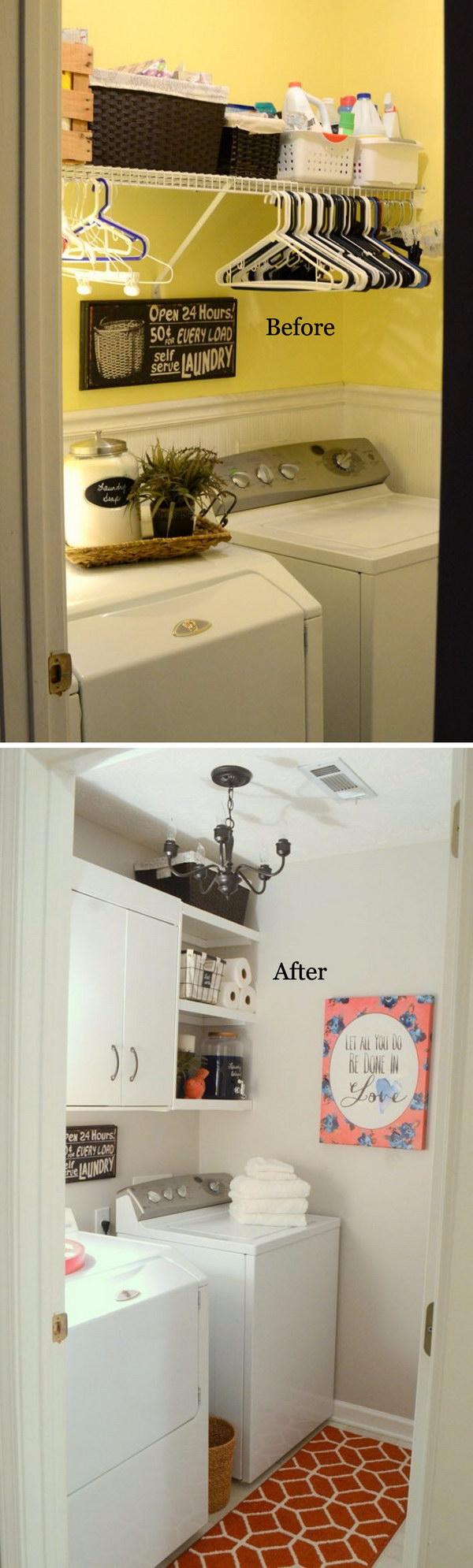 Tiny Laundry Room Makeover.