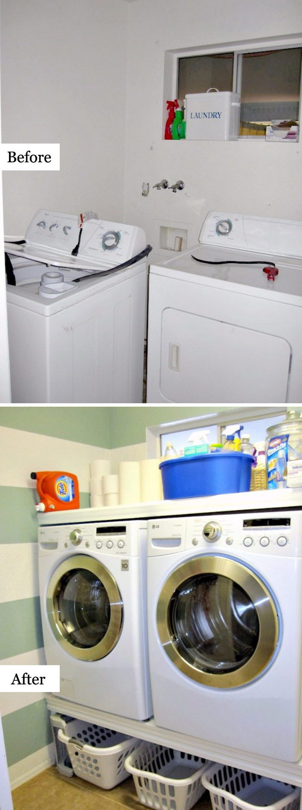 DIY Laundry Room Makeover.