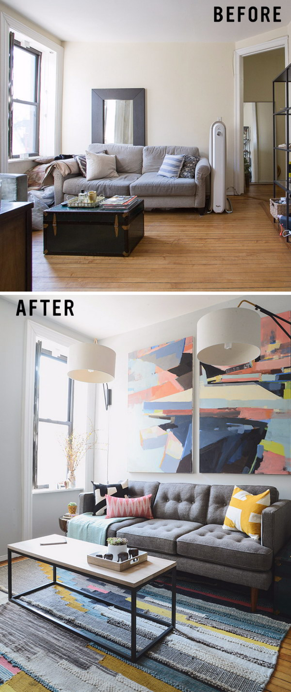 Awesome Before and After Living Room Makeovers - Noted List