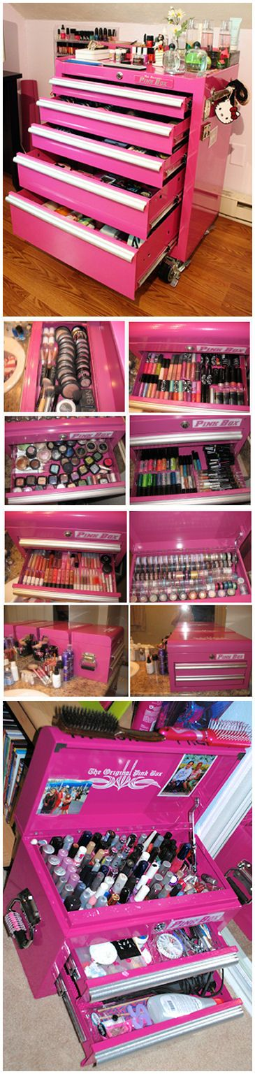 Use A Toolbox For Your Makeup And Nail Polish